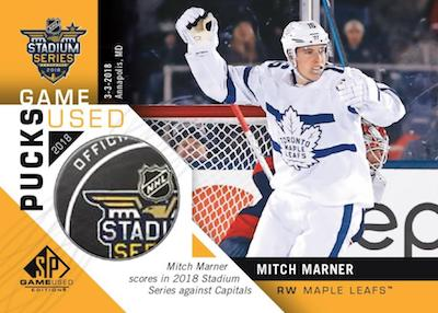 2018 Stadium Series Game-Used Pucks Mitch Marner