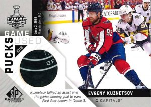 2018 Stanley Cup Finals Game-Used Pucks Evgeny Kuznetsov