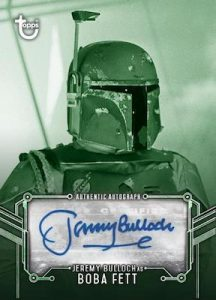 Autographs Green Hue Shift Jeremy Bulloch as Boba Fett