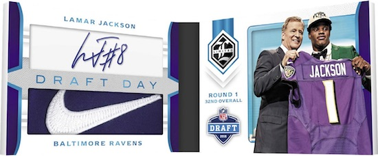 Draft Day Signature Booklet Lamar Jackson