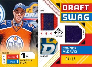 Draft Swag Triple Relics Connor McDavid