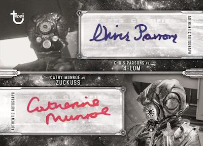 Dual Auto Chris Parsons as 4-LOM, Cathy Monroe as Zuckuss