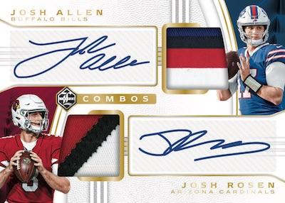 Dual Patch Auto Combos Josh Allen, Josh Rosen
