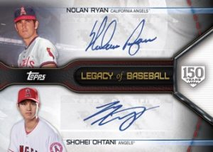 Legacy of Baseball Dual Autos Nolan Ryan, Shohei Ohtani