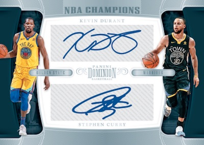 NBA Champions Dual Signatures Kevin Durant, Stephen Curry