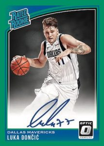 c815f3da2177 2018-19 Donruss Optic – Rated Rookies Signatures Parallels Set. Rated  Rookie Signatures Green Luka Doncic