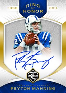 Ring of Honor Auto Peyton Manning