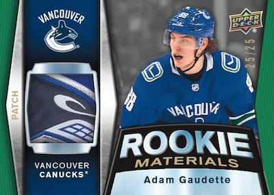 Rookie Materials Patch Adam Gaudette