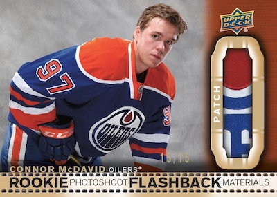 Rookie Photoshoot Flashback Materials Connor McDavid