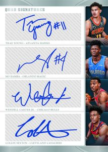 Rookie Quad Signatures Trae Young, Mo Bamba, Wendell Carter Jr, Collin Sexton