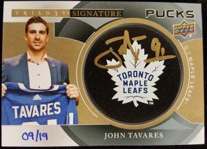 Signature Pucks Team Logo John Tavares