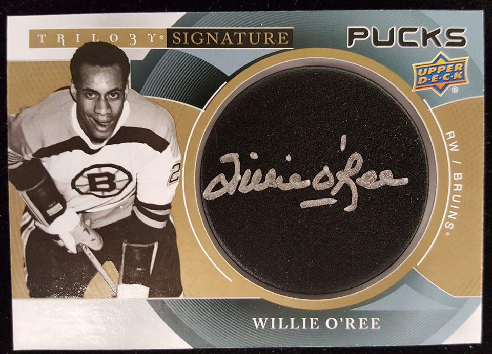 Signature Pucks Willie O'Ree - Checklistcenter.com