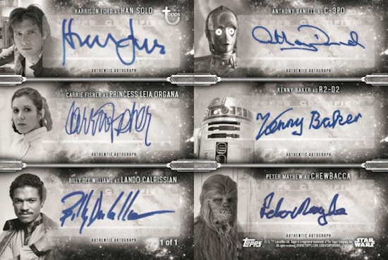 Six-Person Auto Han Solo, Princess Leia, Lando Calrissian, C-3PO, R2-D2, Chewbacca