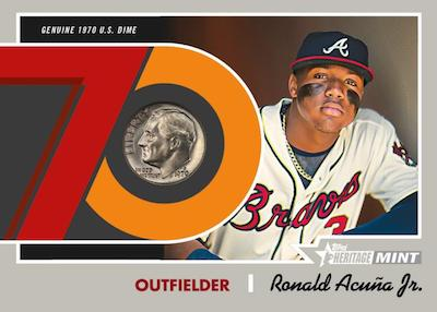 1970 Mint Relics Dime Ronald Acuna Jr