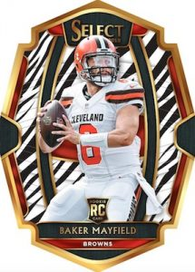 Base Premier Level Zebra Rookie Baker Mayfield