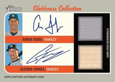 Clubhouse Collection Dual Auto Relic Aaron Judge, Gleyber Torres