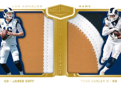 Double Coverage Relics Jared Goff, Todd Gurley II