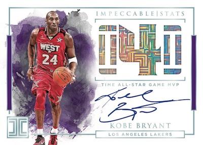 Impeccable Stats Auto Kobe Bryant
