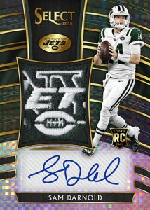 Jumbo Rookie Signature Swatches Black Prizm Sam Darnold