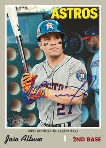 Real Ones Autographs Jose Altuve