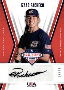16U National Team Signatures Black Ink Izaac Pacheco