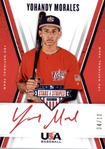 18U National Team Signatures Red Ink Yohandy Morales