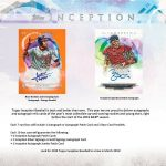 2019 Topps Inception Baseball