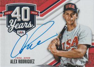 Alumni 40th Anniversary Signatures Alex Rodriguez