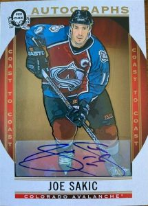 Autographs Joe Sakic