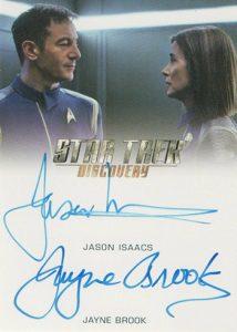 Dual Auto Jason Isaacs, Jayne Brook