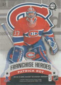 Franchise Heroes Back Patrick Roy