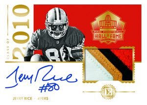 Hall of Fame Patch Auto Jerry Rice