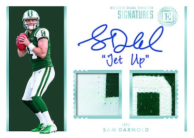 Rookie Dual Swatch Signatured Sam Darnold