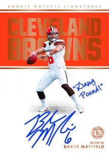 Rookie Notable Signatures Baker Mayfield