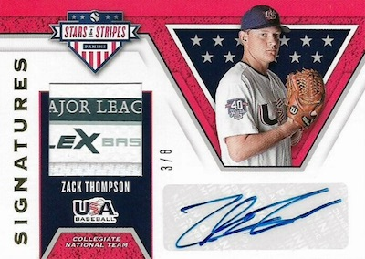 Stars and Stripes Signatures Zack Thompson