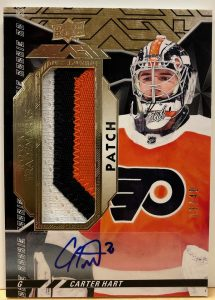 UD Black Rookie Trademarks Auto Patch Carter Hart
