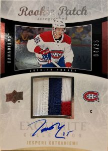 2004-05 Rookie Auto Patch Tribute Jesperi Kotkaniemi