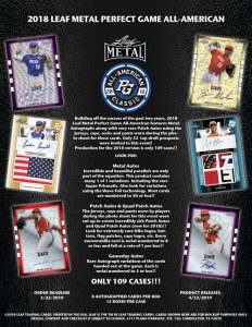 2018 Leaf Metal Perfect Game All-American Baseball