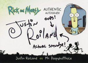 Autographs Justin Roiland