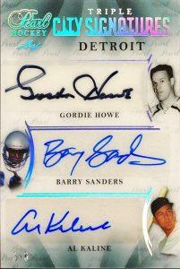 Pearl City Signatures Gordie Howe, Barry Sanders, Al Kaline
