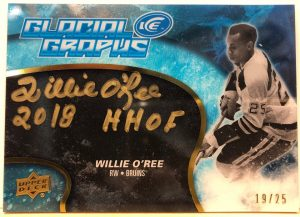 Glacial Graphs Black Auto Willie O'Ree
