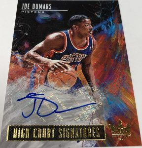 High Court Signatures Joe Dumars