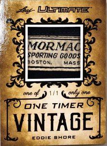 One-Timer Vintage Memorabilia Eddie Shore