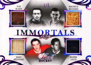 Pearl Immortals 4 Toe Blake, Maurice Richard, Jean Beliveau, Elmer Lach