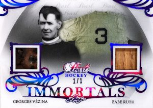 Pearl Immortals Georges Vezina, Babe Ruth