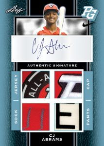 Quad Patch Auto CJ Abrams
