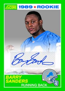 Score Tribute Autos 1989 Barry Sanders