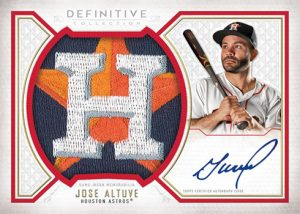 Base Auto Relic Collection Red Team Logo Jose Altuve