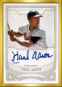 Framed Auto Collection Hank Aaron
