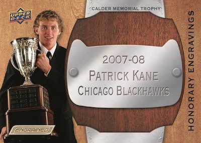 Honorary Engravings Metal Placard Patrick Kane